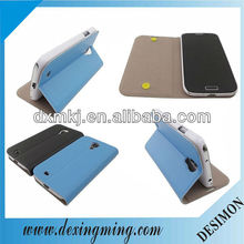 hot pressing blue case for samsung galaxy s4 i9500,folio stand case for samsung S4