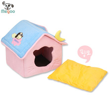Soft Plush Schnauzer Bed House Foldable PP Cotton Padded Pet Nest House For Dog Cat