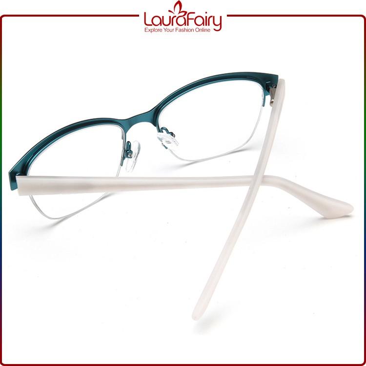 Half Frame Fake Glasses : Laura Fairy Wholesaler High Quality Fake Designer Green ...