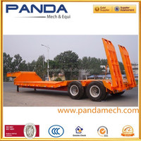 30t low bed semi trailer with ramper