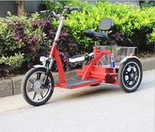 The new lithium battery electric tricycle 48V battery long mileage 3 wheel electric bike for elderly