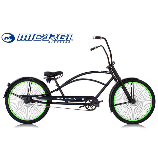 Micargi 26 inch Stretch Cruiser Oversized Chopper fat bike beach cruiser bicycle