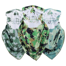 Factory Original Design Custom Skull Camo Half Face Windproof Motorcycle Bandana And Sunscreen Fishing Face Mask