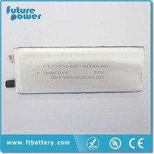 3.7v 6000mah Lithium Polymer Power Bank Battery FT7350140P