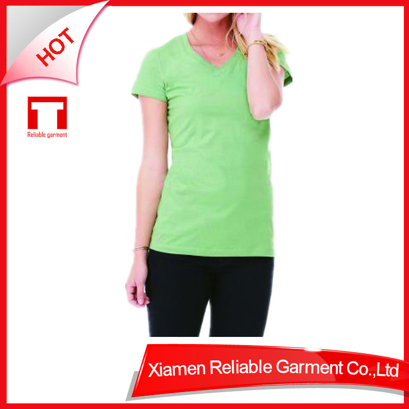 24S Promotional Top Quality 100 % cotton blank women t shirts china online shopping