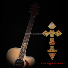 Guitar Neck Inlay Stickers Cross Imitation Abalone Fretboard Decals / Markers For Electric Acoustic Guitarra Fret
