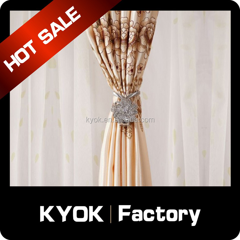 KYOK curtain accessory elegant flocking window curtain , wholesale window curtain