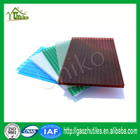 single layer Grade A 2mm 18mm six wall polycarbonate sheet for project