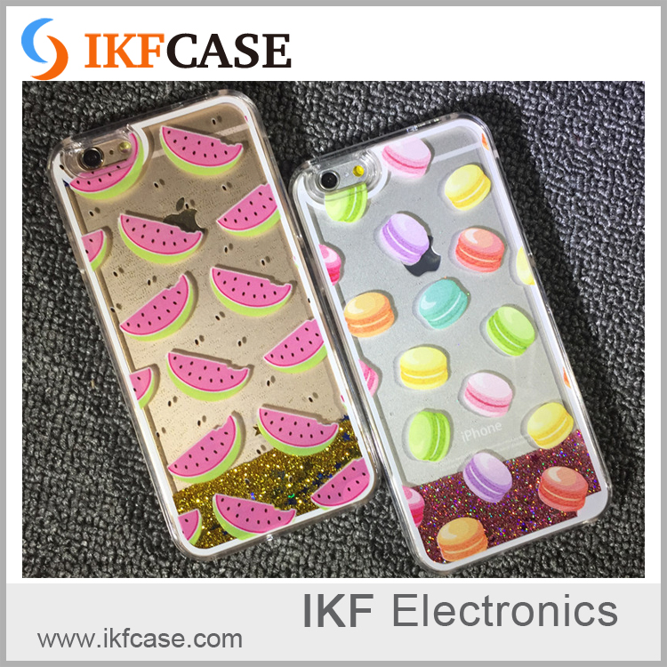 Phone Accessory Dynamic Liquid Glitter Sand Quicksand Case Crystal Clear phone Back Cover Shell For iphone 5 6 6s plus