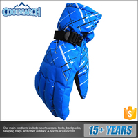 Factory new design OEM color rainproof camouflage ski gloves for winter sports