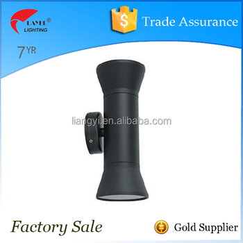 IP65 Aluminum powder coated black up and down outdoor led wall light morden wall light