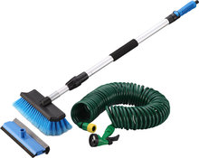 car wash brush set with extendable handle, squeegee, hope pipe