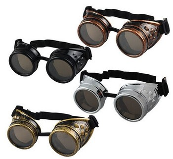 cheap, wholesale funny color steampunk welding cup goggles eye cup sports cosplay glasses