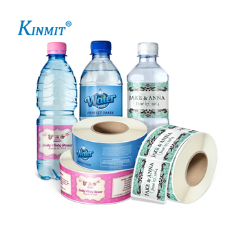 Kinmit High Quality Waterproof Adhesive Water Bottle Label