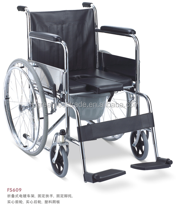 brand new GREATNESS GT609LU commode folding wheelchair