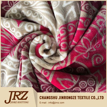 flannel printed fabric with totem pattern for bedding/quilt/blanket/garment