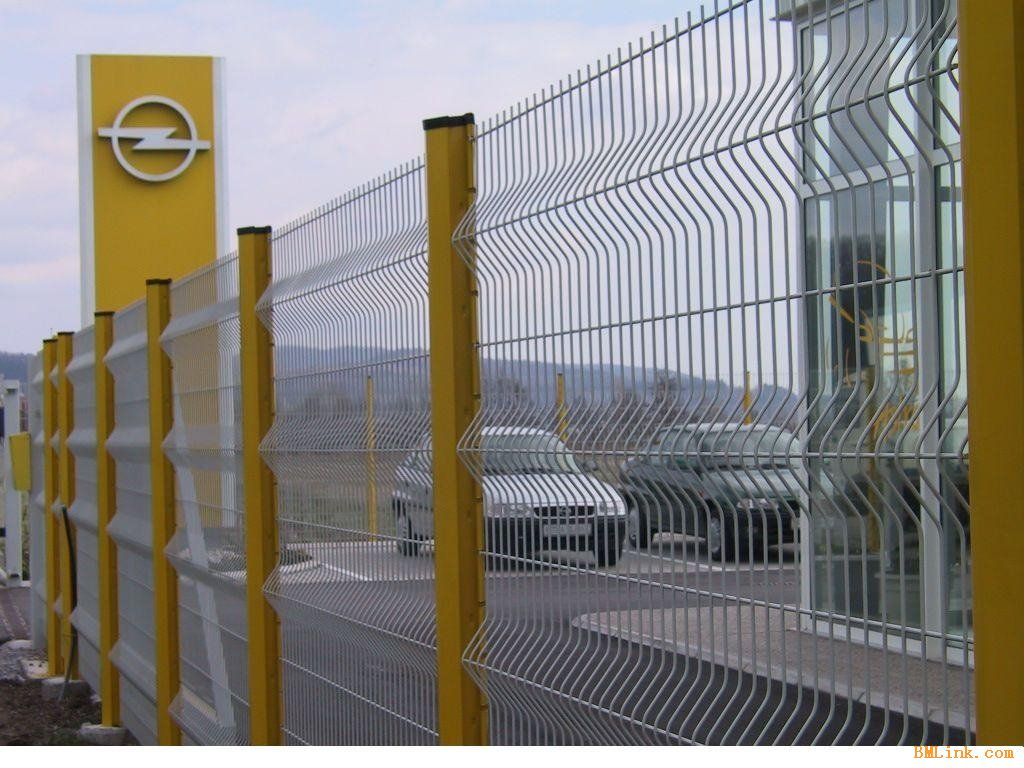 metal wire mesh fence panel