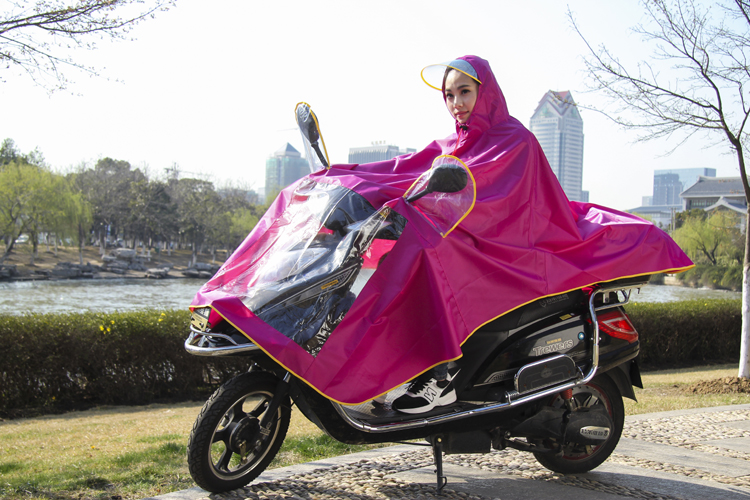 Fashion high quality motorcycle poncho raincoat for adult