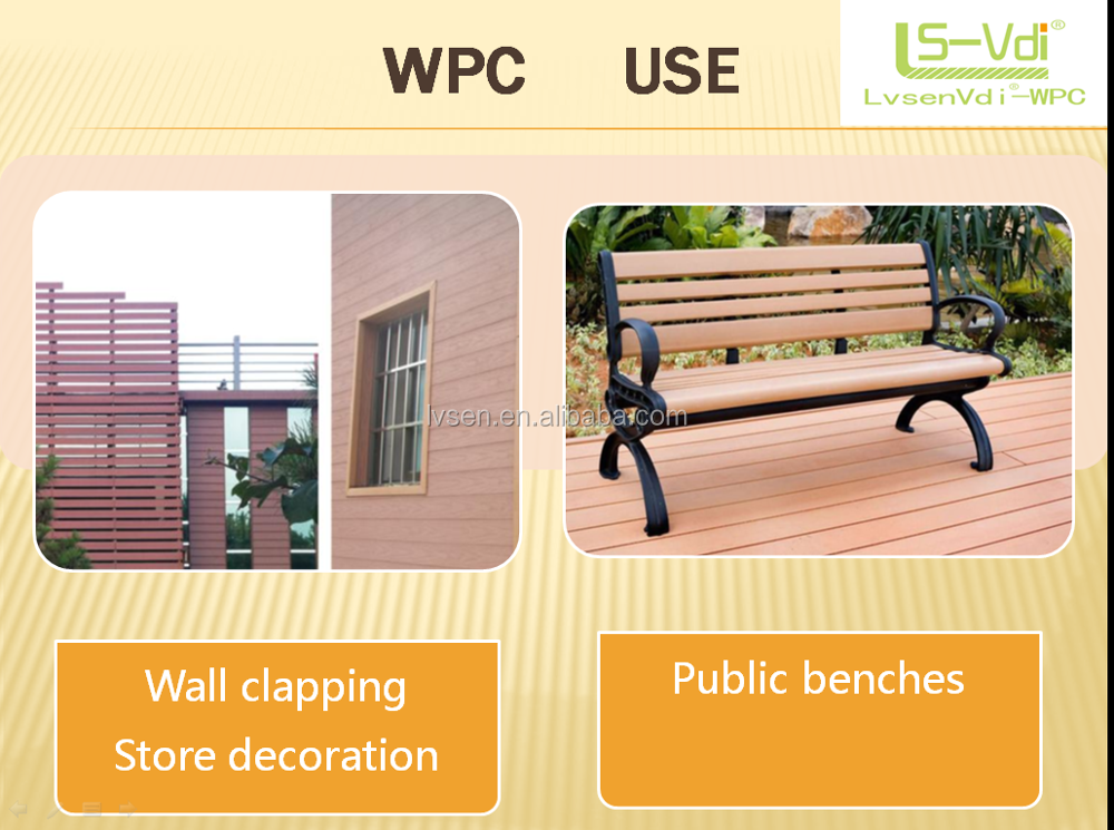 130*18 mm Water proof Wood plastic composite decking floor wood performance wpc board plastic coated landscape timber