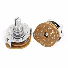 1P8T 1 Pole 8 Position 6mm Shaft Band Selector Rotary Switch