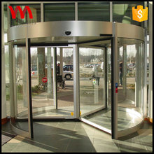 Alibaba China supplie customized glass 3 wings hotel entrance automatic revolving door