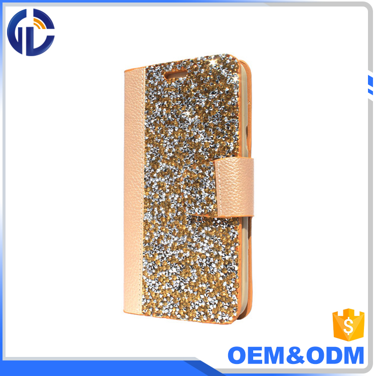 accessories funky mobile phone diamond cover case personalize phone leather case for iphone 7 6
