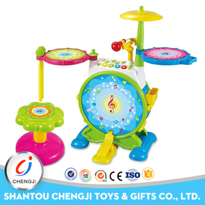 Fashion design toys kid dynamic colorful musical jazz drum