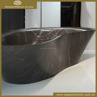 Natural stone marble bathtub
