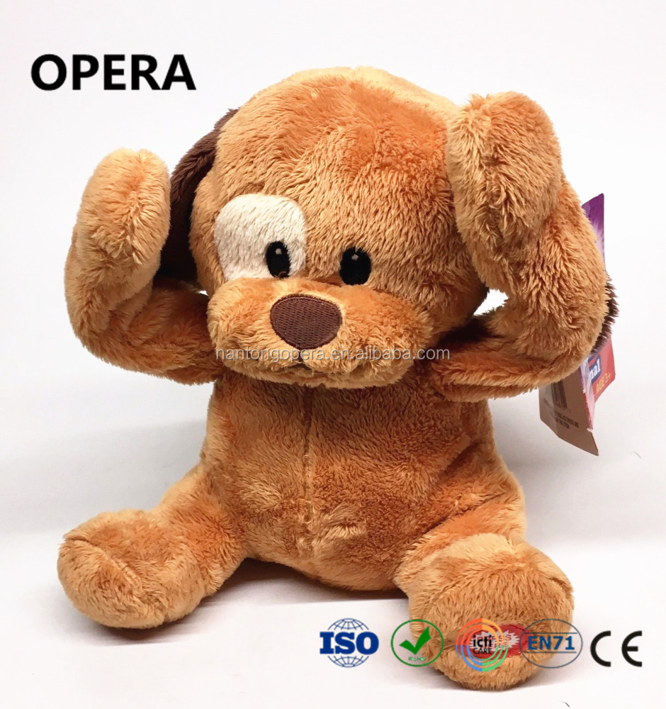 new lovely design good quality brown softer puppy dog stuffed plush toy for dollar store