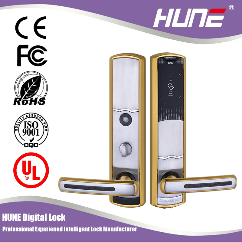 europen mortise battery operated electronic card door lock for hotel