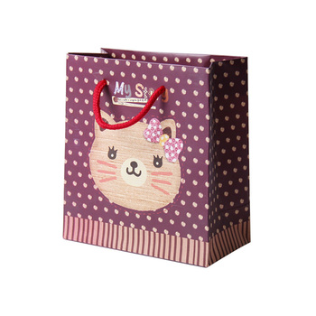Promotional brand name luxury coated paper shopping bag