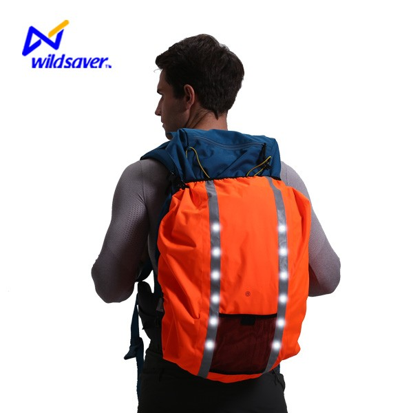 2016 led light portable luxury professional backpack bag rain cover