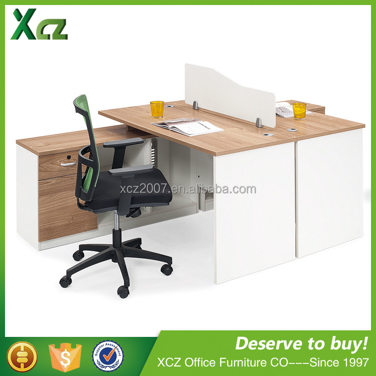 1.4M double people staff office furniture desk office workstation with partition