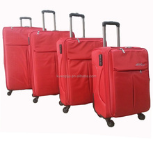 new design nylon soft 4 piece set decent travel luggage roller bag suitcases travel one
