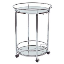Stainless Steel Chrome Serving Cart