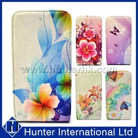 Printed Top Magnet Leahter Flip Case For Samsung Galaxy S4