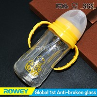 baby fancy glass feeding bottle glass bottle for breastfeeding
