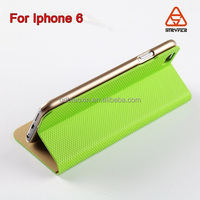Multicolor kickstand leather case with window view leather phone case for iphone 6