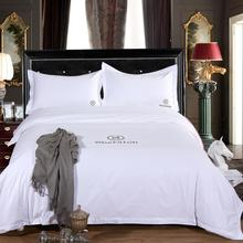 Cotton Hotel Bedding Sheets / White Bed Sheets for Hotels Used