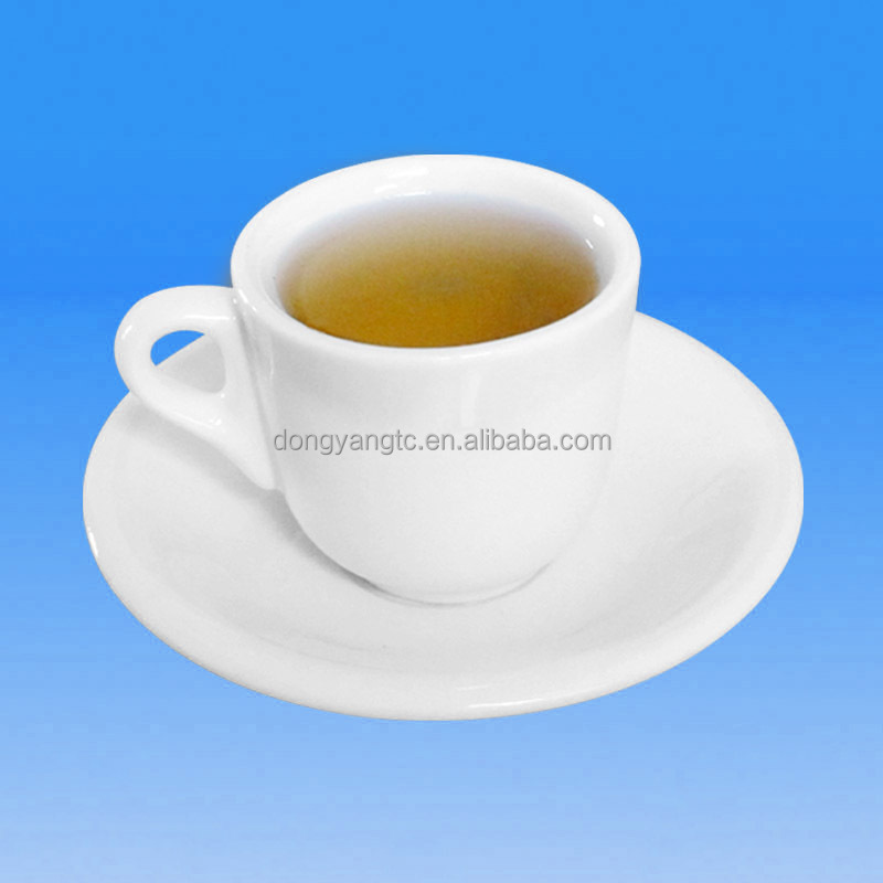 5oz 150ml restaurant high tea demitasse fine quality factory wholesale porcelain espresso coffee cup ceramic tea cup and saucer