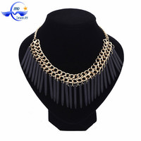 Wholesale Handmade New Design Black Fashion Long Gold Chain Necklace