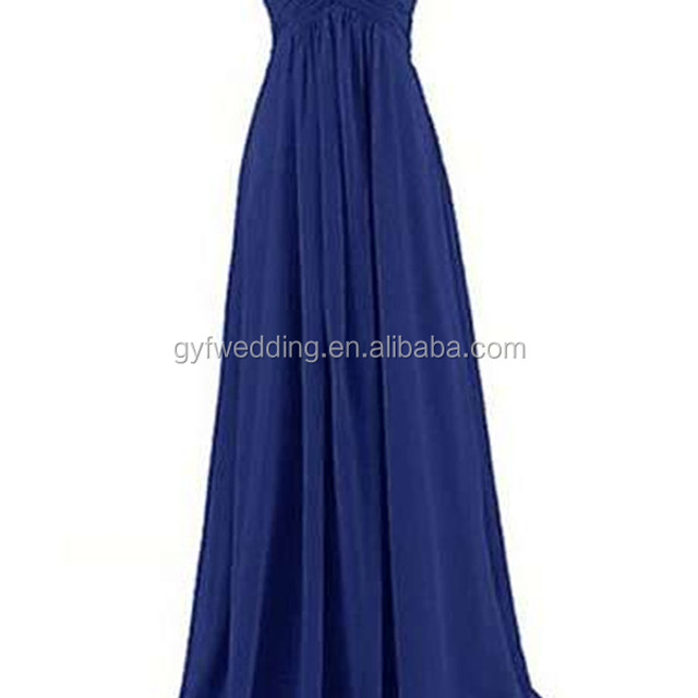 Personality Design Charming Backless Long Chiffon Mermaid Bridesmaid Dresses 2016 Women Elegant Dress For Wedding C48-4