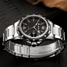 High quality multi functional quartz movement stainless steel back geneva watch
