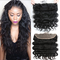 Virgin Malaysian Body Wave Free Part Lace Frontals with Baby Hair Cheap Remy Human Hair Lace Frontal Closures Ear to Ear 13x4