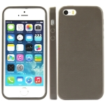 High Quality Pure Color Leather Case for iPhone 5 (Grey)