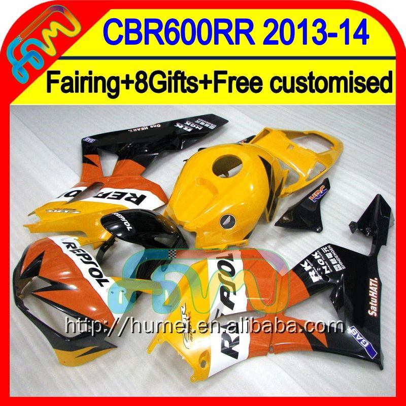 Orange blk 8Gifts Injection For HONDA CBR600RR Repsol orange 13 14 28HM59 CBR 600RR 600 RR 2013 2014 CBR600 RR F5 13-14 Fairing