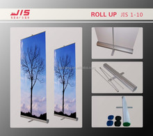 JIS1-10 high quality 85*200cm customised size display exhibition trade show usage aluminum luxury roll up banner