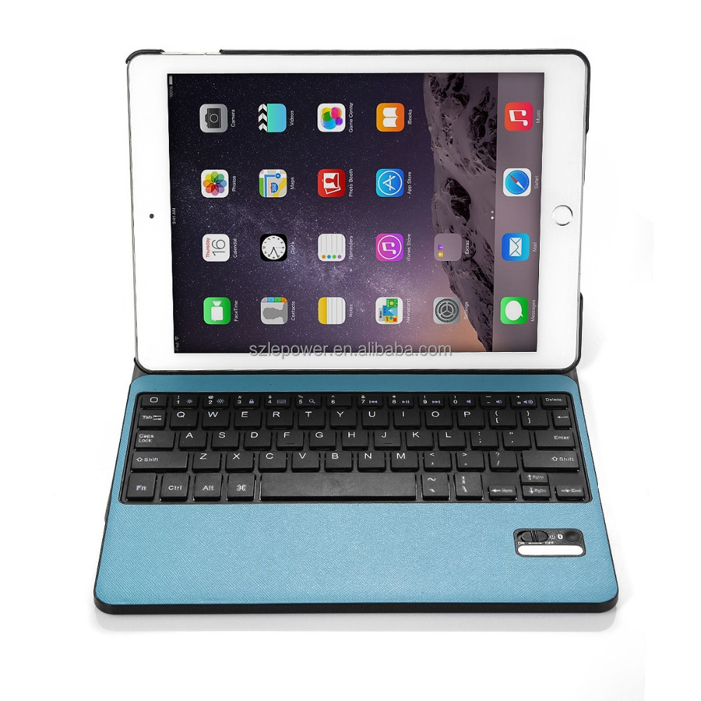 Leather Stand Case Cover 3.0 Foldable bluetooth keyboard for Apple iPad Air 2/iPad 6