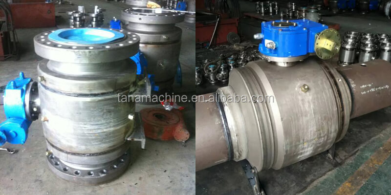 china supplier 24 inch Forged A105 API6D Full Welded Ball Valve flange ends