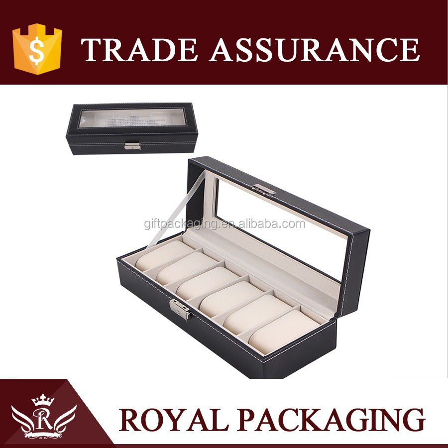 hot new products for wholesale 6 watches pocket watch case / watch gift boxes with lock